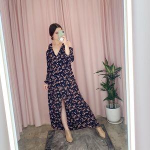 Flynn Skye Maxi Floral Cold Shoulder Duster Dress